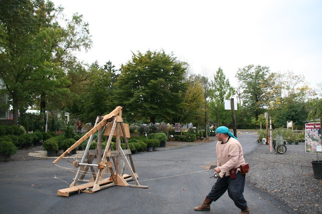 releasing the catapult