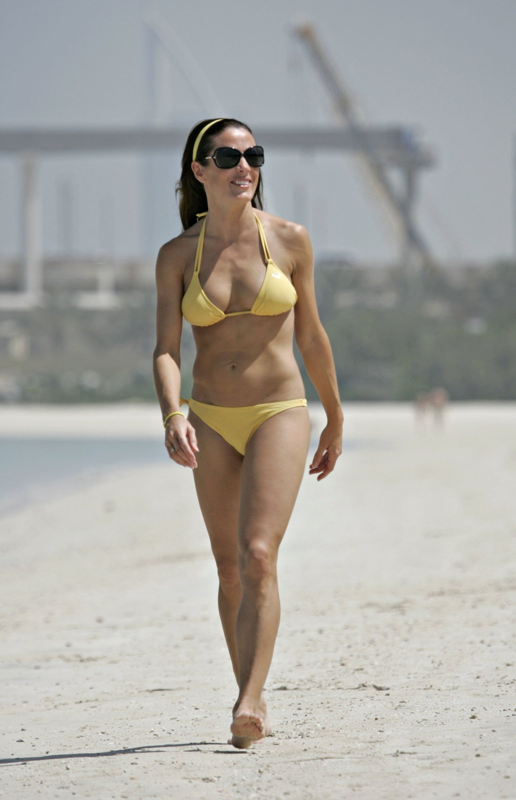 Natalie Pinkham at beach