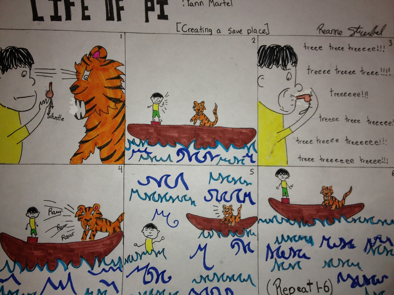 mrs c collect your thoughts 11 life of pi cartoon choice project pi saved his life by learning to coexist richard parker and this is a crucial part of the novel