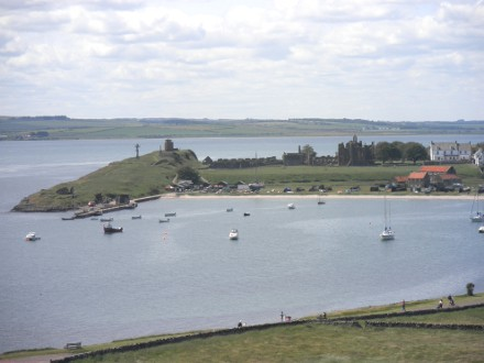 The view from Lindisfarne Castle