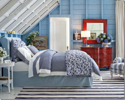 Red White and Blue Bedroom Decor