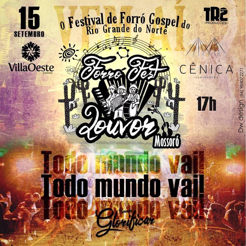 GENTE, O FORRÓ FEST LOUVOR SERÁ DIA 15/SET