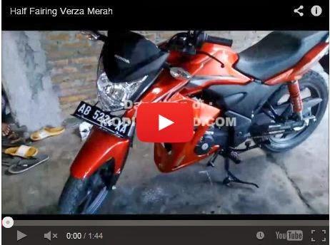 buang-buang kalimat lagi, berikut ini sajian video half fairing verza