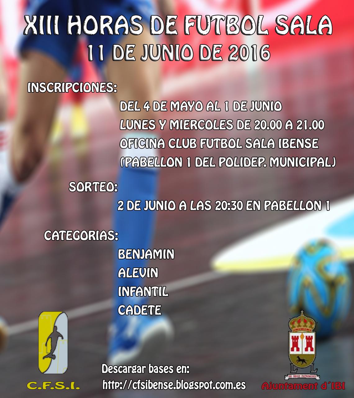 XIII HORAS FÚTBOL SALA 11 JUNIO 2016
