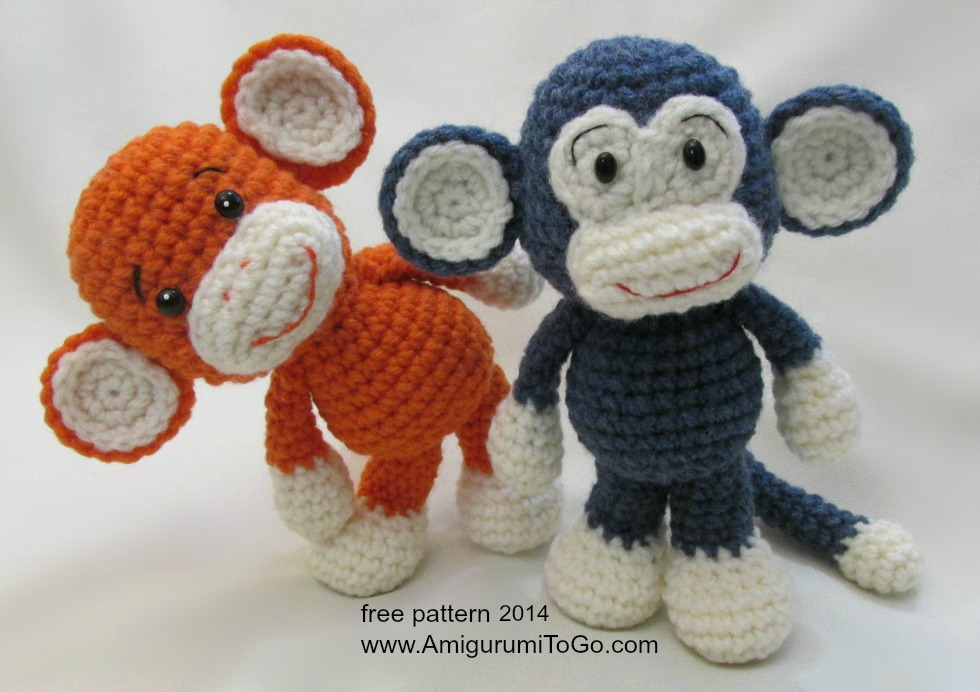 Amigurumi Free Pattern Crochet : Little Bigfoot Monkey Revised Pattern Video Tutorial ...