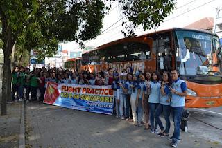 siswa-i PSPP Penerbangan Yogyakarta siap-siap berangkat ke jakarta