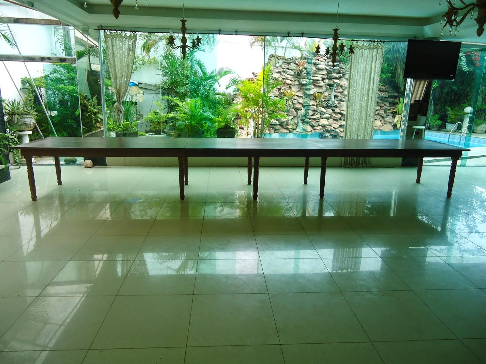 Aceventosmoveis m veis r sticos for Mesa 2 metros comensales