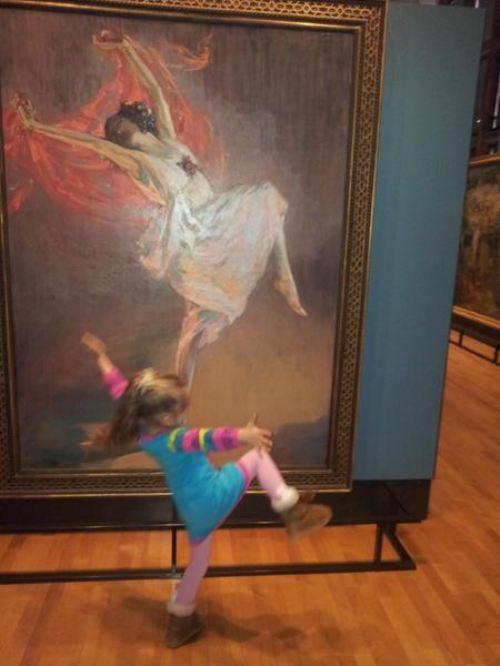 Fotos engraçadas em museus