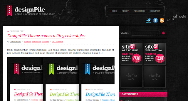 Design Pile, Designer Wordpress Theme