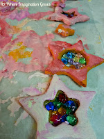 Salt dough melted bead christmas ornaments gifts