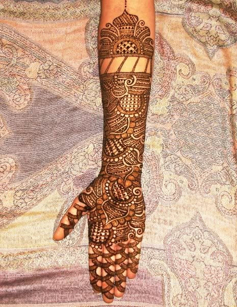Mehndi For Kids Full Hand : Arabic henna mehendi patterns designs
