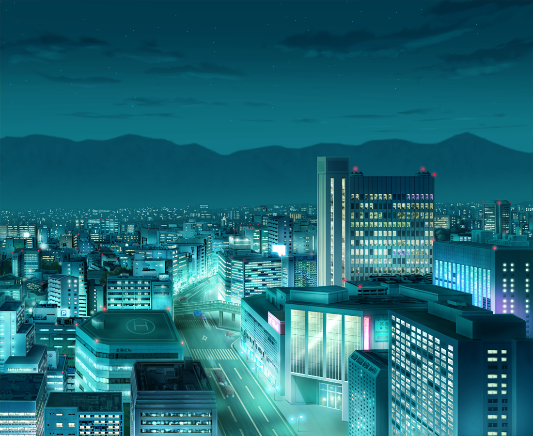 gallery for anime city scenery wallpaper