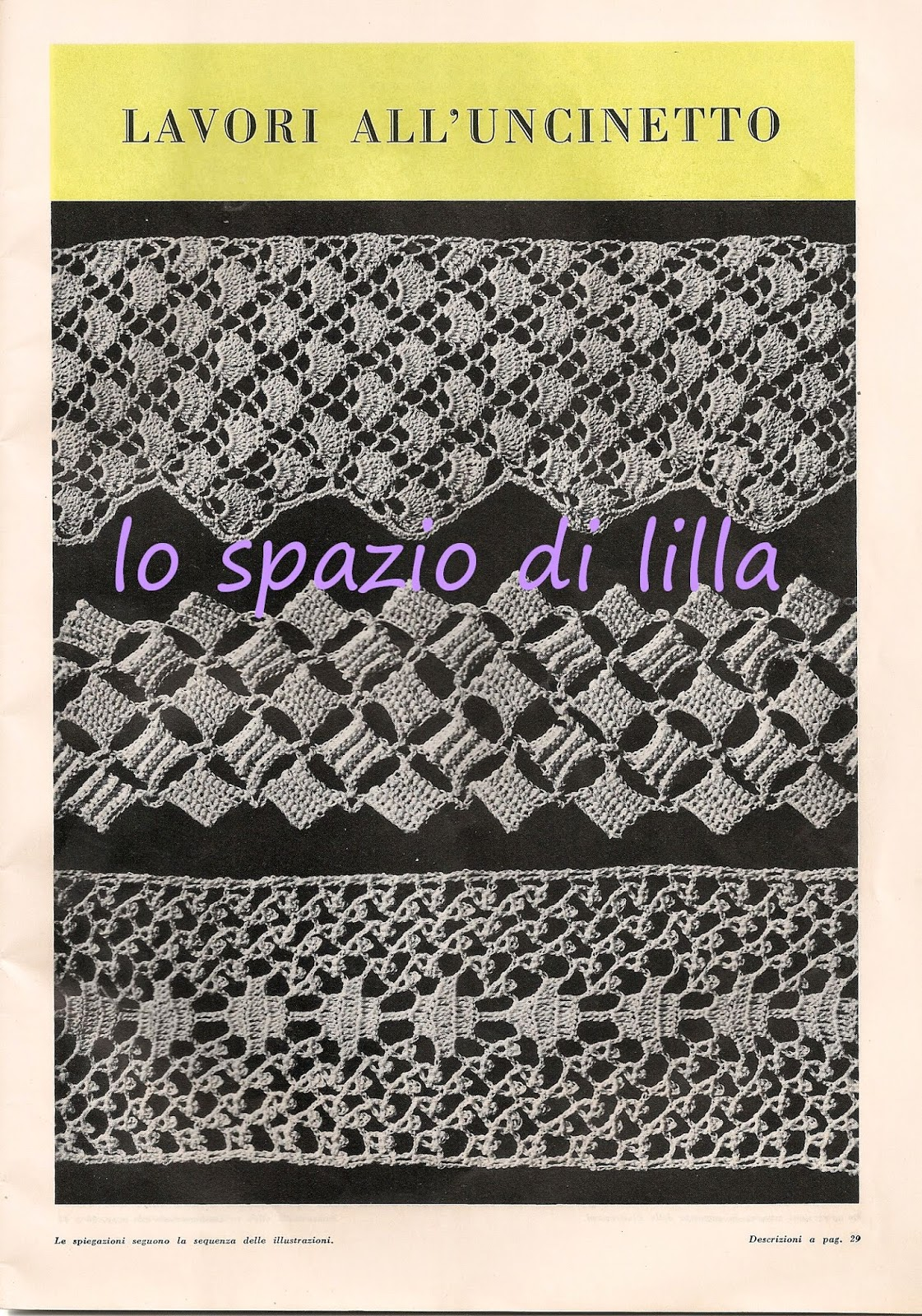 Lo spazio di lilla bordure all 39 uncinetto vintage schemi for Bordure all uncinetto schemi