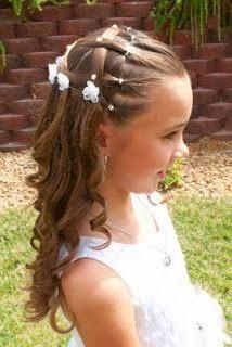 Peinado de Corona para Princesa y Primera Comunión Princess or  - peinados con corona de comunion