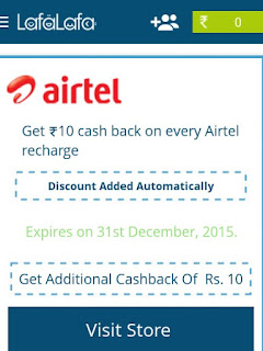 Lafalafa App Offering Rs 10 Cashback On Rs 20 Recharge ( Airtel Only )