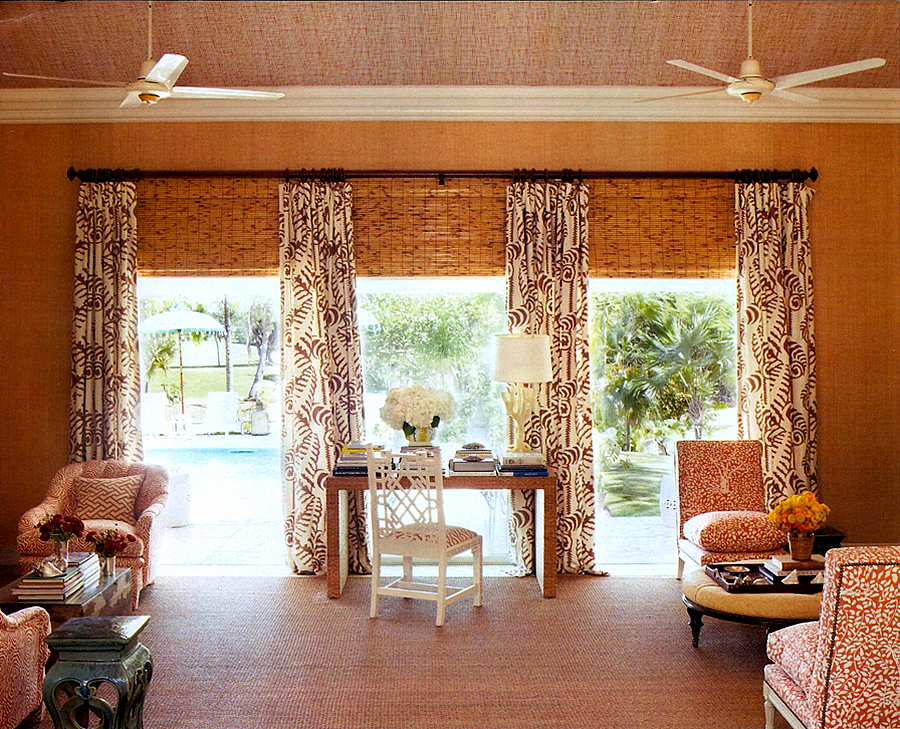 Matthew Suddok tried to talk me into this exact window treatment combo  years ago - Why didn't I just say yes- he was always ten years ahead!