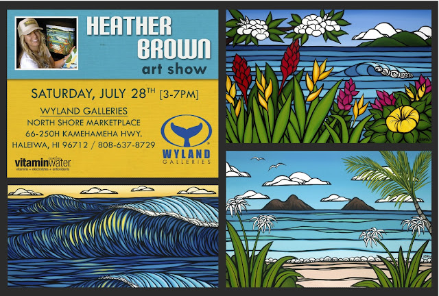 Heather Brown art show Wyland Gallery Haleiwa, North SHore Oahu Hawaii Artist