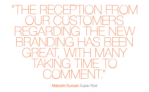 Super Rod new branding quote