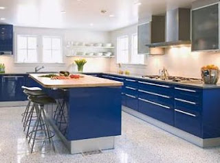 blue cabinets for kitchen