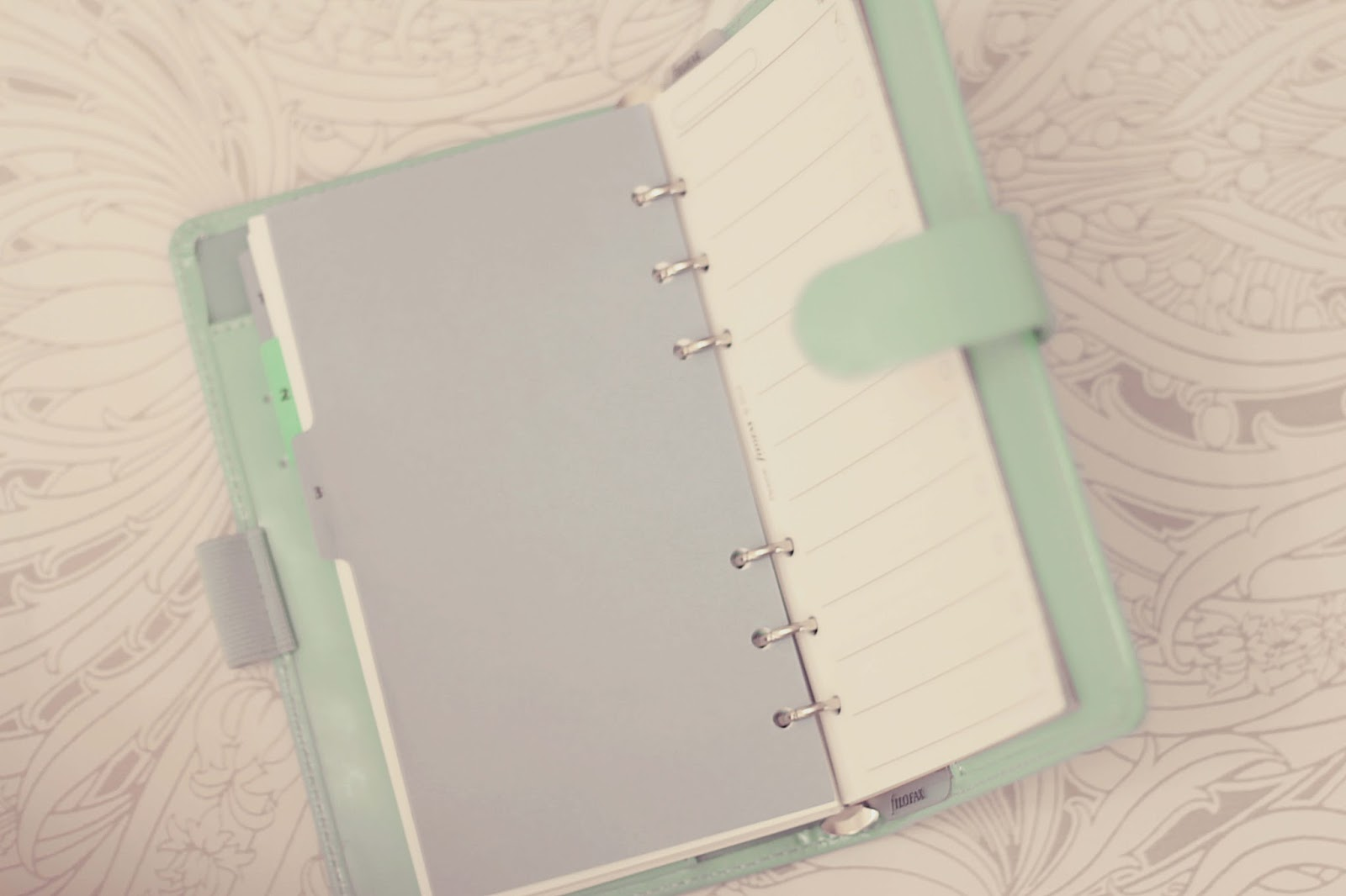 how to set up filofax for first time planners