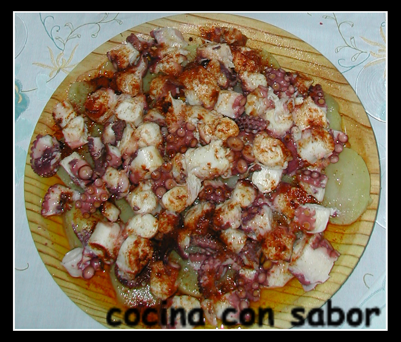 Cocina con sabor pulpo a la gallega olla r pida for Pulpo en olla rapida