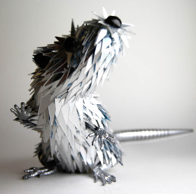 Amazing Animals Sculptures Made from Shattered CDs