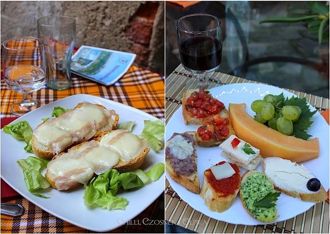 toskanskie przystawki bruschetta z lardo i pecorino