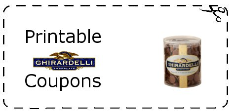 picture regarding Ghiradelli Printable Coupons identified as Ghirardelli Coupon Printable Grocery Discount codes