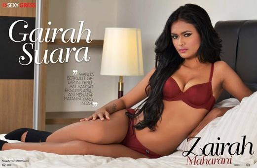 Zairah Maharani, Gairah Suara - Gress Magazine Issue 23 2015 Indonesia | www.zone.downloadmajalah.com