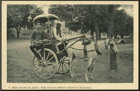 Ekka-Service-in-India---Vintage-Postcard