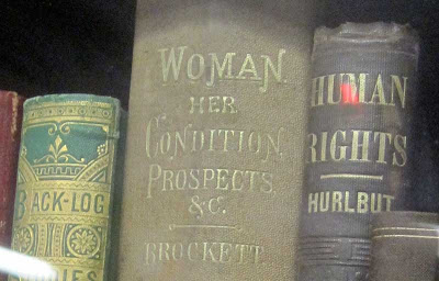 Antiquarian book with title Woman: Her Condition, Prospects, &c