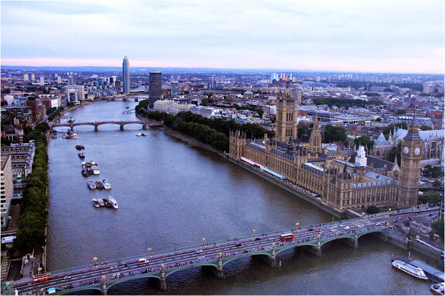 London Eye, vista panorâmica, melhor visão de Londres