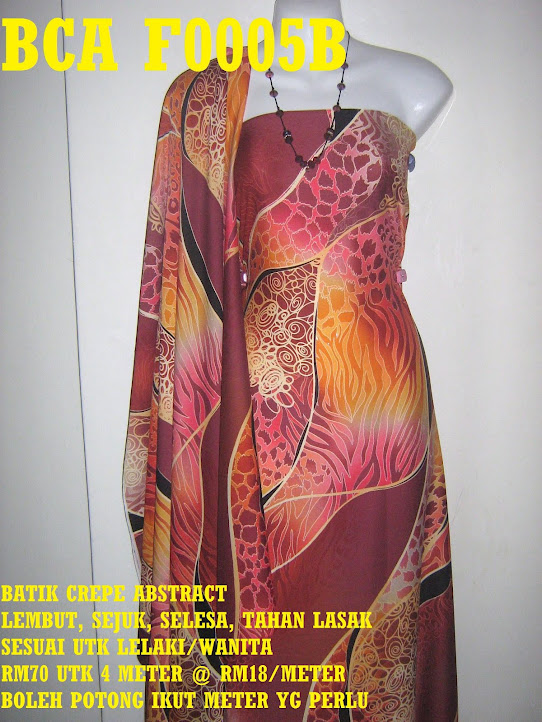 BCA F0005B: BATIK CREPE ABSTRACT,  4 METER