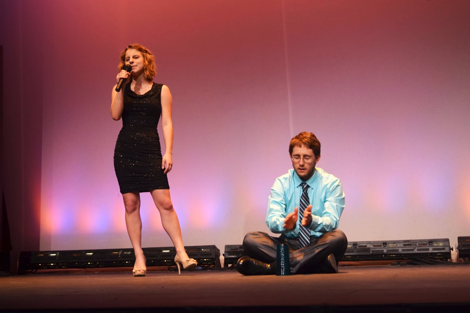 Katie and Cody preforming
