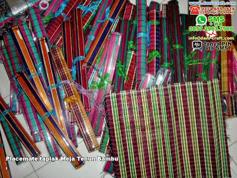 Placematetaplak Meja Tenun Bambu Bambu Lidi Probolinggo