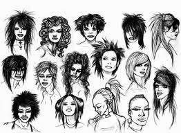 modelos de cabelos para imprimir em desenhos