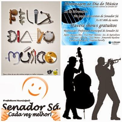 Prefeitura promoverá evento cultural, dia do músico, dia 22 de novembro.