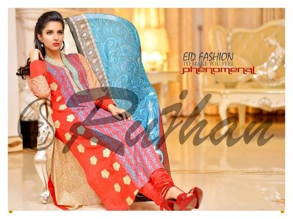FestivanaEidCollectionByRujhanFabrics wwwfashionhuntworldblogspot 8  - Festivana Eid Collection 2014-2015 By Rujhan Fabrics