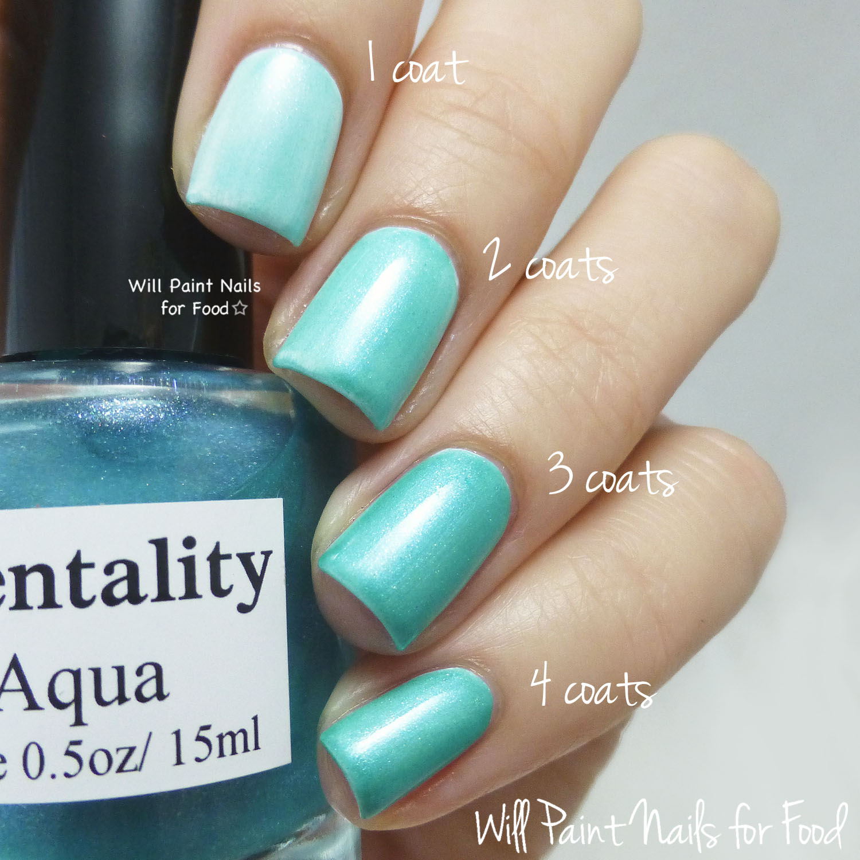 Mentality Nail Polish Glaze Aqua swatch