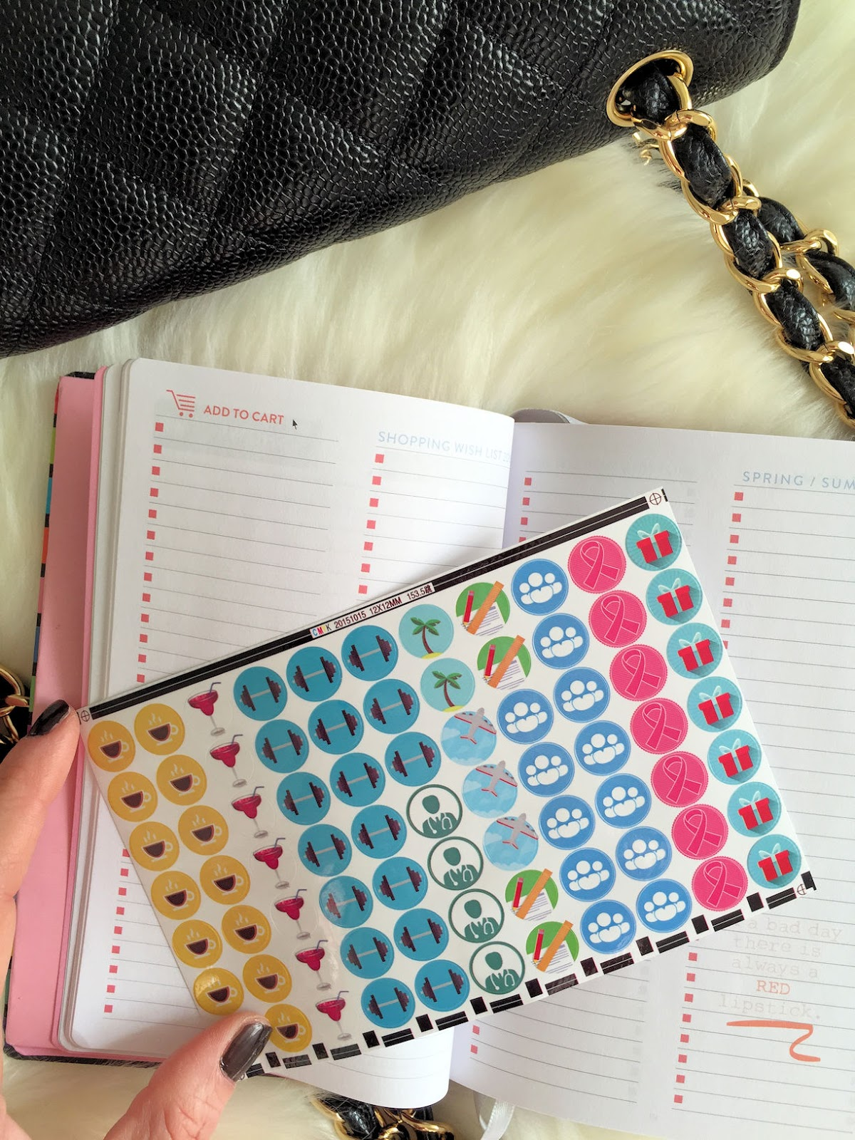 Believe in yourself women's planner 2016 on Fashion and Cookies fashion blog, fashion blogger