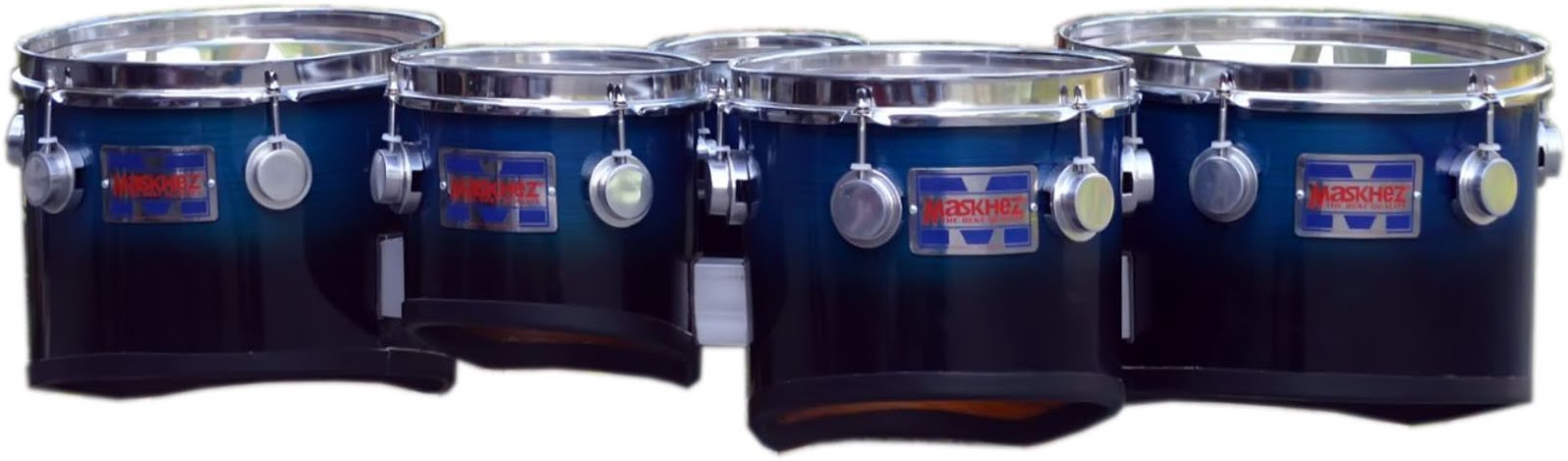 MARCHING QUINT TOM 6,8,10,12,13inch ROGO JATI SERIES Blue samar