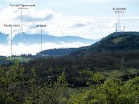 El Montseny i la Serra de Fontderola des del Turó de Sant Cugat