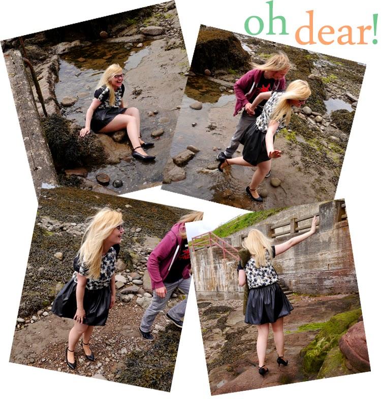 hawaii, Scotland, Arbroath, palm trees, ukelele, beach, fashion shoot, pond, how to, stunt double, photo shoot, out take, fall, funny, accident