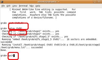 "Untuk masuk ke modus konfigurasi GRUB, ketik "" sudo grub "" lalu ..."