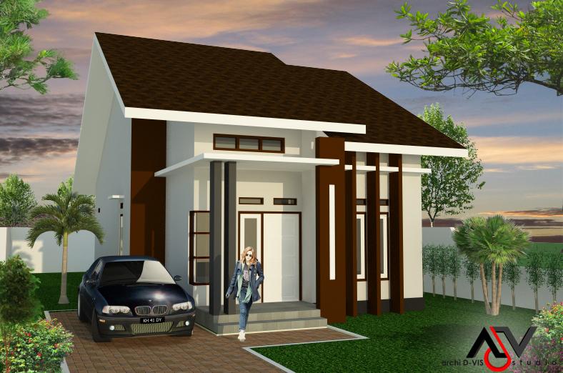 Detail Gambar Desain Denah Rumah Minimalis Tipe 36 Sederhana