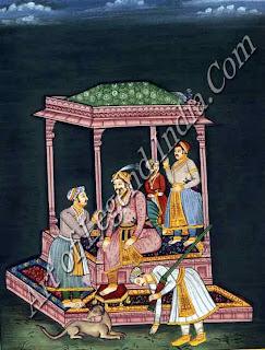 Akbar in old Age