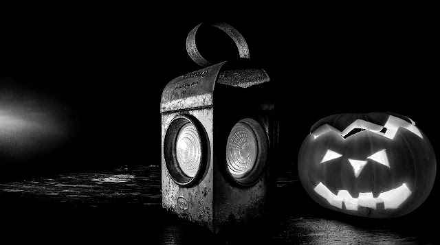 Halloween black and white photography