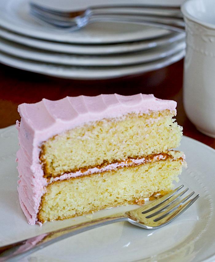 Lemon Drop: Vanilla Bean Cake with Vanilla Buttercream Frosting