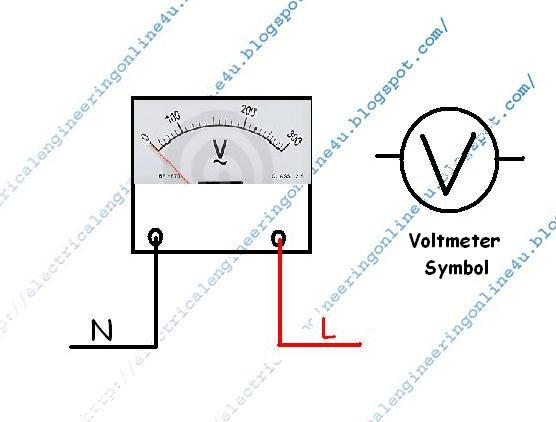 how to wire a voltmeter in home wiring electrical online 4u rh electricalonline4u com Amp Meter Wiring Diagram Ammeter Wiring-Diagram