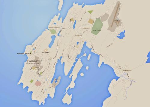 Nuuk map - Greenland